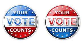 Il vostro voto Fotografia Stock