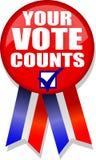 Il vostro voto conta Button/AI Fotografie Stock