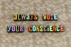 Il voto conta l'elezione di dovere della responsabilità fotografia stock libera da diritti