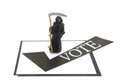 Il voto o muore Fotografia Stock Libera da Diritti