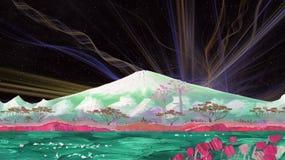 Il vulcano di Fujiyama, Giappone royalty illustrazione gratis