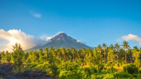 Il vulcano di Mayon è uno stratovolcano attivo nella provincia dell'Albay nella regione di Bicol, sull'isola di Luzon in archivi video