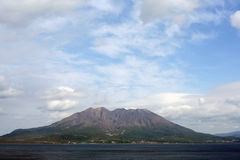 Il vulcano Sakurajima Fotografie Stock