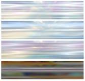 Il Web ha impostato il bann etereo dell'intestazione 4 illustrazione vettoriale