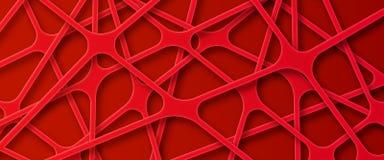 Il web rosso gradisce il fondo della rete illustrazione vettoriale