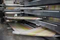 Il Web (rulli) ha stampato in offset la pressa - particolare Immagini Stock Libere da Diritti