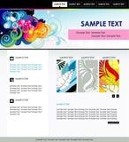 Il Web site colora il modello illustrazione vettoriale