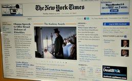 Il Web site del New York Times Fotografia Stock Libera da Diritti