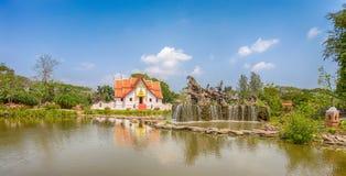 Il Wihan a Wat Phumin, Nan, città antica, Samut Prakan, Tailandia Fotografia Stock Libera da Diritti