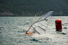 Il windsurfer Fotografia Stock Libera da Diritti