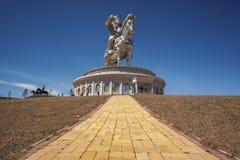 Il world& x27; più grande statua di s di Chinghis Khan Fotografia Stock Libera da Diritti