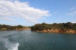 Il y a le paysage Shima Japan d'île de baie photo libre de droits