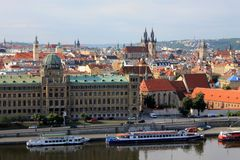 Il y a une capitale de République Tchèque prague Panoram Images libres de droits