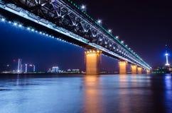 Ponte del fiume Chang Jiang Immagini Stock Libere da Diritti