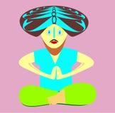 Il yogi in un asana. Immagine Stock