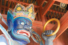 IL YUNNAN, CINA - 20 MARZO 2015: Tempio di Xingjiao a Shaxi vi antico Immagine Stock Libera da Diritti