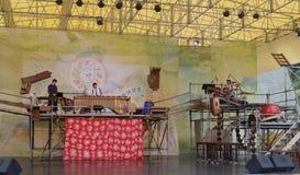 ilan绿色商展,台湾环境题材戏曲  图库摄影