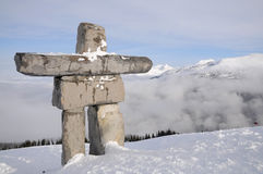 Ilanaaq inuksuk sculpture at Whistler Stock Photo