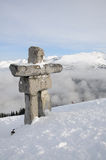 Ilanaaq inuksuk sculpture at Whistler Royalty Free Stock Image