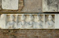Ilario Fusco在亚壁古道的` s坟茔 库存照片