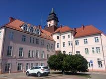 Ilawa Pologne, bâtiment d'hôtel de ville Image libre de droits