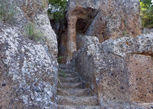 Ildebranda, etruscan tombs Stock Photos