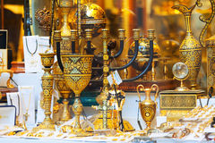 Ilded  souvenirs in Toledo Royalty Free Stock Image