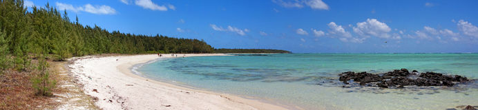 Ile Aux Cerfs. An island in the east of Mauritius Stock Images