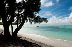 Ile aux cerfs. Is an small island near the east coast of the island of Mauritius in the Flacq District Stock Photo