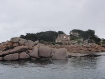 France - The Ile aux oiseaux - Front view. The Ile aux oiseaux is a small island of the Gulf of Morbihan belonging to the state. She is managed by the Royalty Free Stock Image