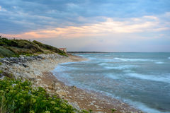Ile d'Oleron,France coastline at sunset, Charente Maritime Royalty Free Stock Photos