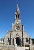 Ile De Batz Igreja Fotografia de Stock Royalty Free