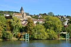 Ile de France, γραφική πόλη του Triel-sur-Seine Στοκ Εικόνα