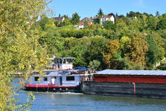 Ile de France, γραφική πόλη του Triel-sur-Seine Στοκ φωτογραφία με δικαίωμα ελεύθερης χρήσης