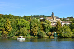 Ile de France, γραφική πόλη του Triel-sur-Seine Στοκ Φωτογραφίες
