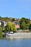Ile de France, γραφική πόλη του Triel-sur-Seine Στοκ εικόνα με δικαίωμα ελεύθερης χρήσης