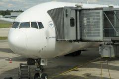 Ile de France, avion en aéroport de Charles de Gaulle en Val d l'Oise Photographie stock