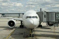 Ile de France, avion en aéroport de Charles de Gaulle en Val d l'Oise Photo stock