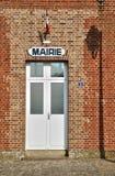 Ile de France, city hall of Charmont Royalty Free Stock Photos
