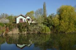 Ile de France, ciudad pintoresca de Poissy Foto de archivo