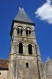 Ile de France, die historische Kirche von Morienval Lizenzfreie Stockfotos