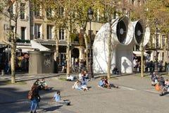 Ile de France, die malerische Stadt von Paris Stockbilder