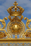 France, golden gate of Versailles palace in Les Yvelines Royalty Free Stock Image