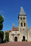 Ile de France, the historical church of  Morienval Stock Photo
