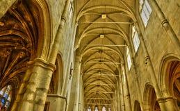 Ile de France,picturesque church of  Montfort l Amaury Stock Photo