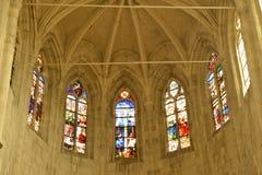 Ile de France, picturesque church of  Montfort l Amaury Royalty Free Stock Photos