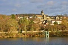 Ile de France, the picturesque city of Triel sur Seine Stock Images