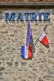 Ile de France pittoresk by av helgonCyr en Arthies Royaltyfria Bilder