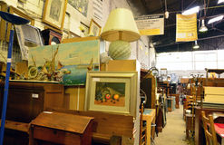 Ile de France,  shop of a bric a brac trader Stock Photography