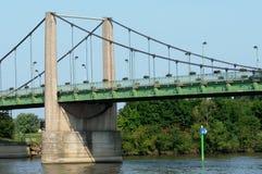Ile de France,  suspension bridge of Triel Sur Seine Royalty Free Stock Photos